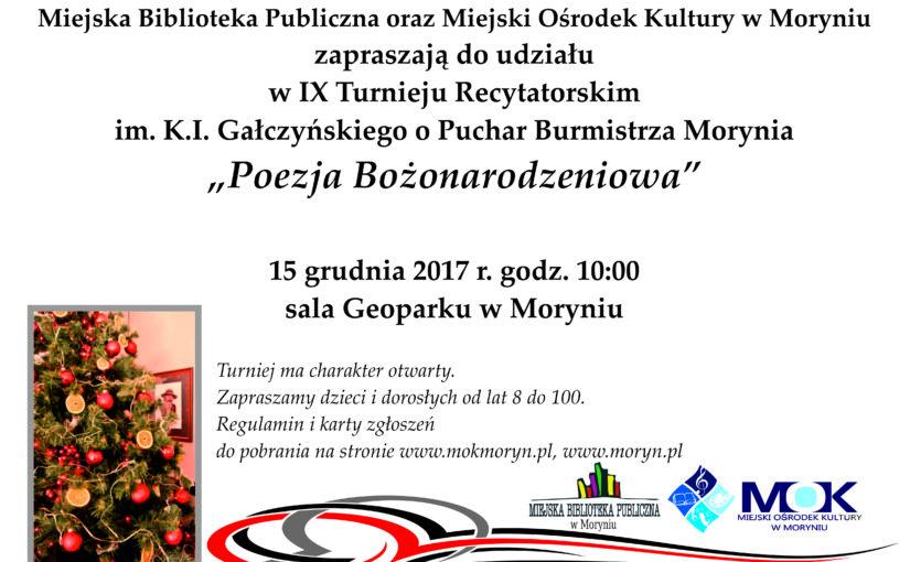 IX Turniej Recytatorski im. K.I. Gałczyńskiego