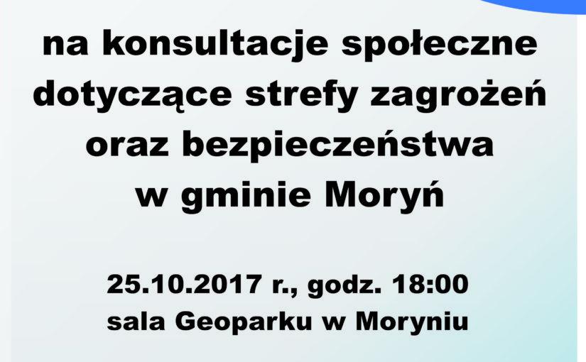 Konsultacje społeczne dotyczące strefy zagrożeń oraz bezpieczeństwa w gminie Moryń
