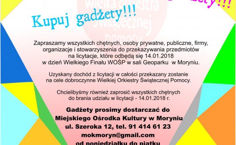 Więcej o: Wspieraj WOŚP – Przekaż gadżety!!! Kupuj gadżety !!!