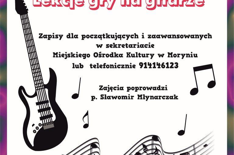 Więcej o: Lekcje gry na gitarze