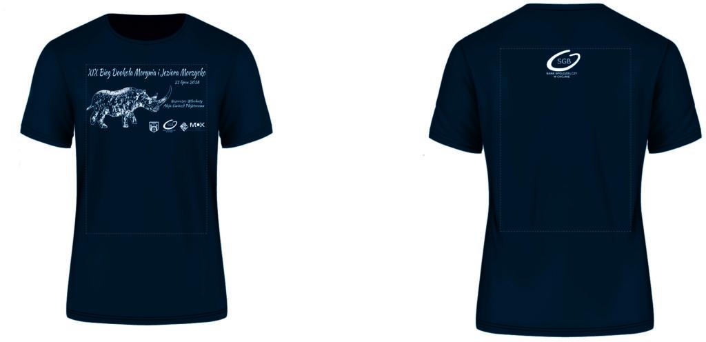 Męska koszulka XIX Biegu Dookoła Morynia i Jeziora Morzycko - 2018'