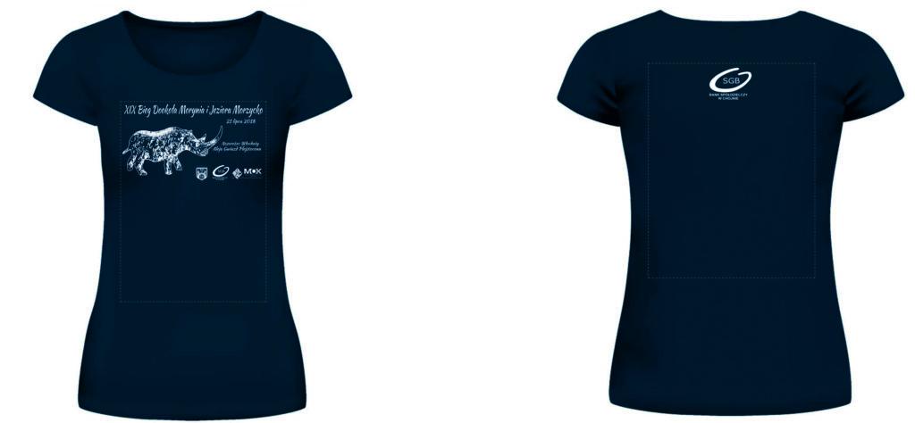 Damska koszulka XIX Biegu Dookoła Morynia i Jeziora Morzycko - 2018'