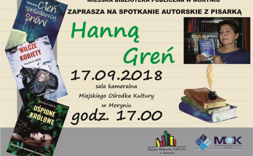 Spotkanie autorskie z pisarką Hanną Greń